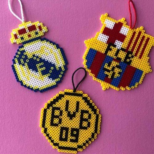 Football Lovers Perler Gift Idea #keychainidea