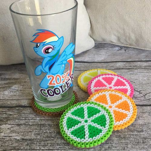 Summer Fruit Coaster Set #fruitcoasterset