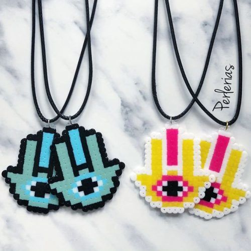 Necklace Perler Beads Craft #nekclacecraft
