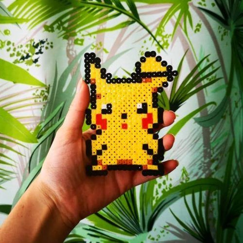 Pokemon Perler Beads #pikachu