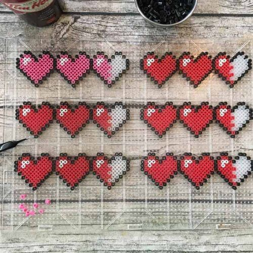Small Hearts Craft Idea #heartcraft