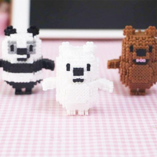 3d We Bare Bears Perler Beads Craft #animalsperlerbeads
