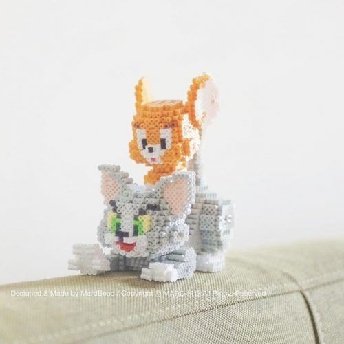 Tom And Jerry Perler Beads #3dperlerbeads