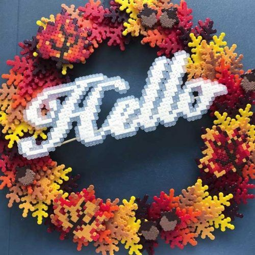 Perler Beads Wreath Idea #diywreath