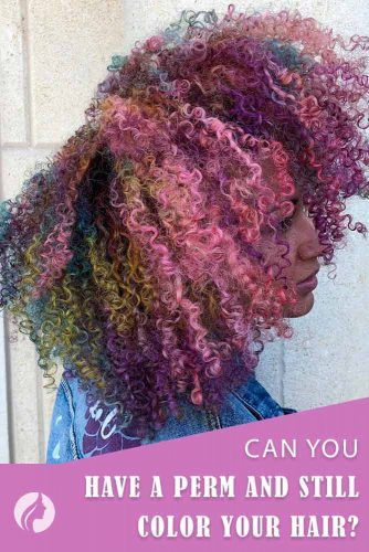 Can You Have A Perm And Still Color Your Hair? #coloredhair #curlyhair