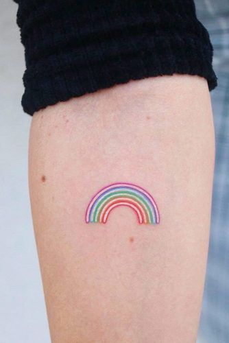 Colorful Rainbow Idea #rainbowtattoo