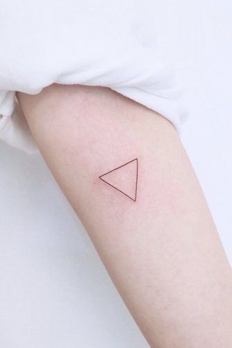 Simple Geometric Tattoo Design With Triangle #triangletattoo #geometrictattoo