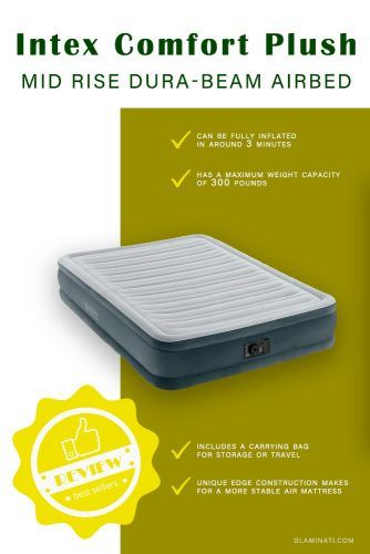 Intex Comfort Plush Mid Rise Dura-Beam Airbed #intex #airbed