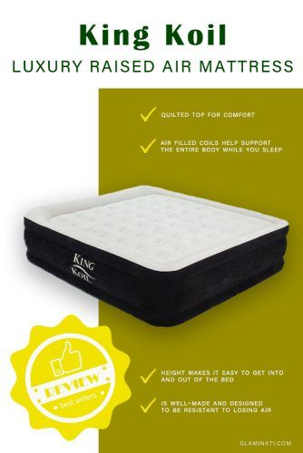 King Koil Twin Size Upgraded Luxury Raised Air Mattress #airbed ##kingkoil