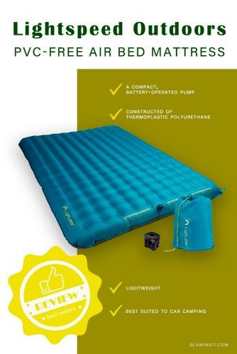 Lightspeed Outdoors 2 Person PVC-Free Air Bed Mattress #airbed #lightspeedoutdoors