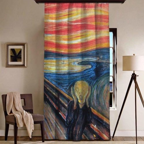 Painted Curtains Design #paintedcurtains