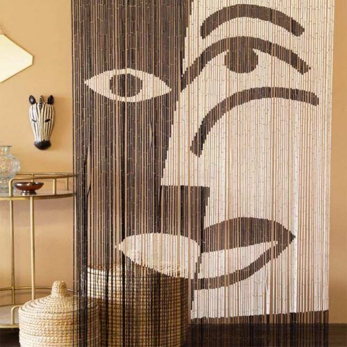 Beaded Curtains Design With Art Accent #beadedcurtains