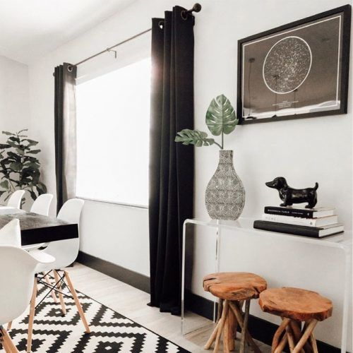 Black Curtains Design #blackcurtains