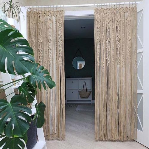 Macramé Curtains Design #macrame #diycurtains