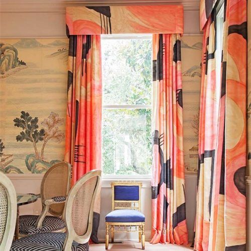 Pink Patterned Curtains Design #pinkcurtains #patternedcurtains