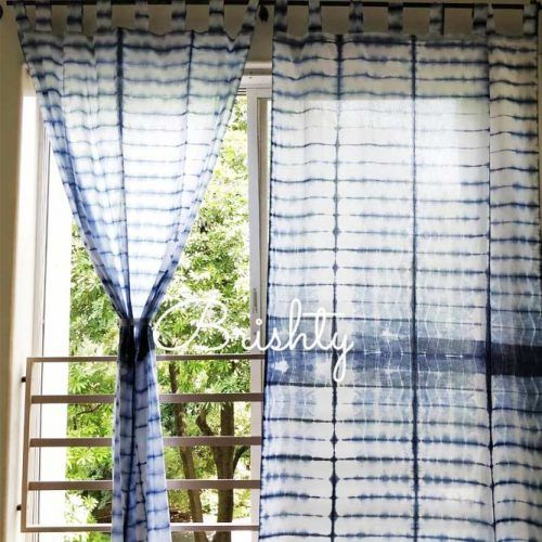 Tie Dye Blue Design #tiediycurtains