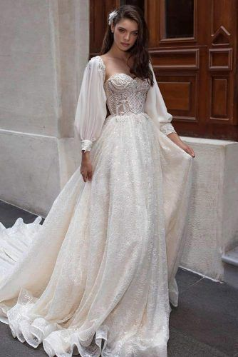 Cinderella Dress With Cuff Sleeves #weddingdress #cuffsleeves