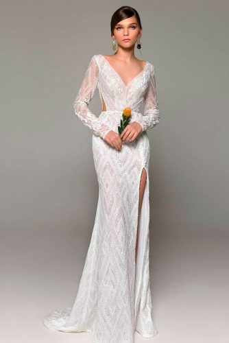 Boho Cut-Out Wedding Dress With Sleeves #cutoutdress #bohoweddingdress