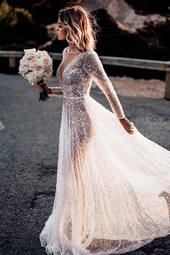 Translucent Crystal Wedding Dress #translucentdress #crystaldress