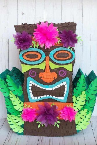 Luau Piñata Idea For Hawaiian Party #luaupinata