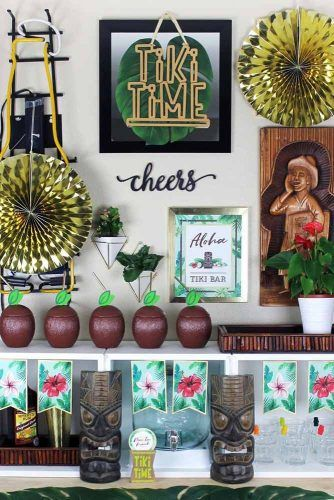 Tiki Theme Decorations #tikitheme #tikibar