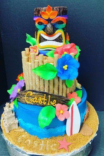 Luau Cake Idea #luaucake #luauparty