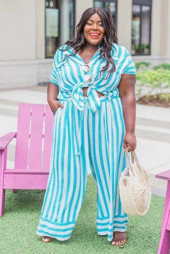 A Striped Jumpsuit Outfit #stripedjumpsuit