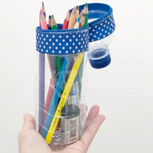 DIY Bottle Pencil Case #pencilcase #diypencilcase
