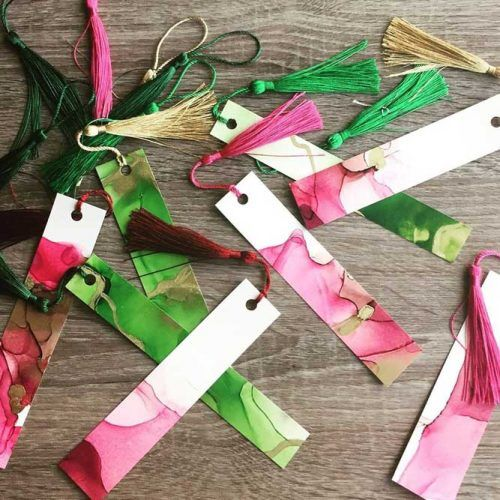 Chunky Tassel Bookmarks School Supplies #bookmarks