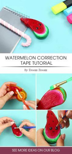 Watermelon Correction Tape Tutoria #correctiontape #watermelondesign