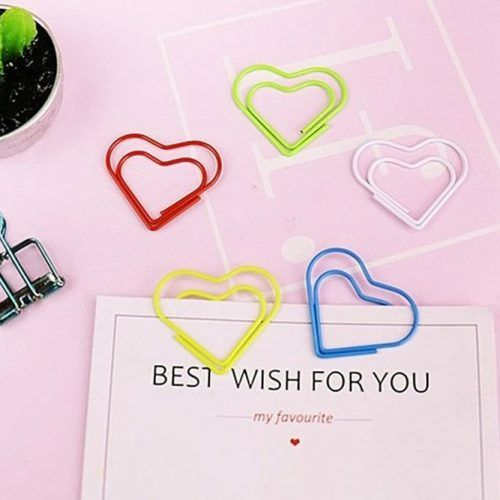 Heart-shaped Paper Clips School Supplies #heartshaped #paperclips