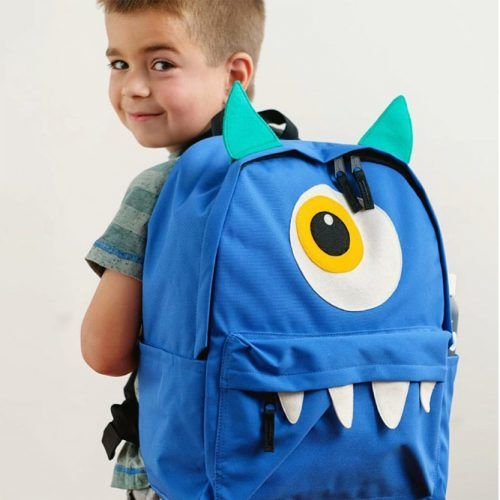 DIY Monster Backpack #backpackdecor #monsterbackpack