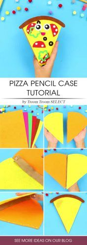 DIY Pizza Pencils Case #pizzapencilcase