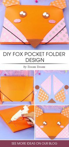 DIY Fox Pocket Holder Design #foxplasticfolder
