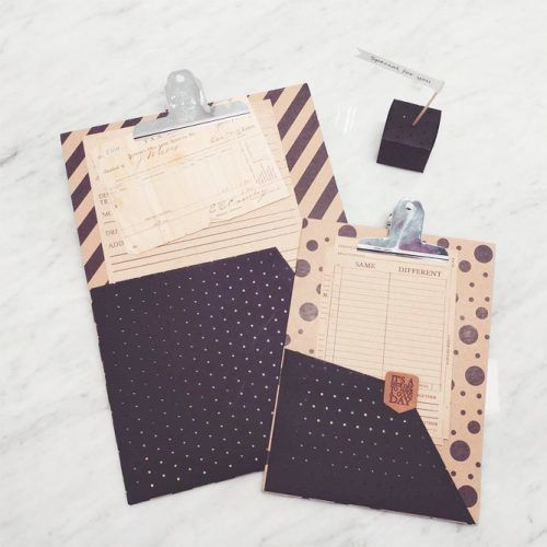 DIY Printed Clipboard Idea #clipboarddesign