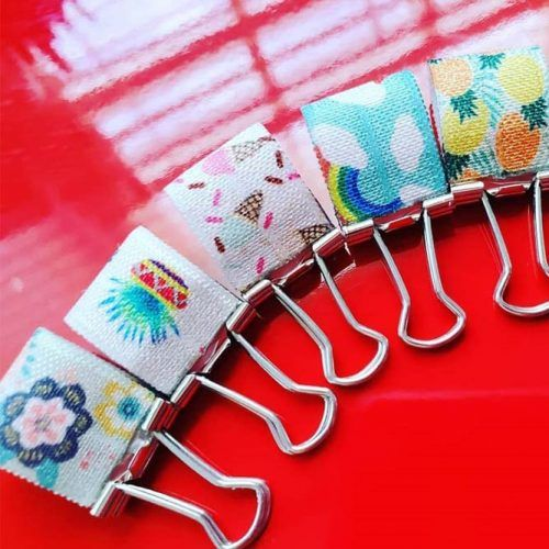 Upcycle Binder Clips School Supplies #binderclips