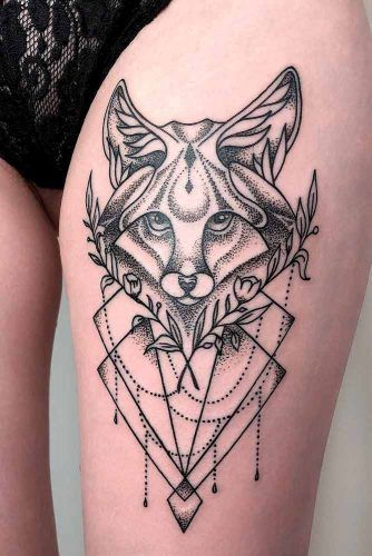 A Fox Tattoo With A Dotwork Technique #foxtattoo