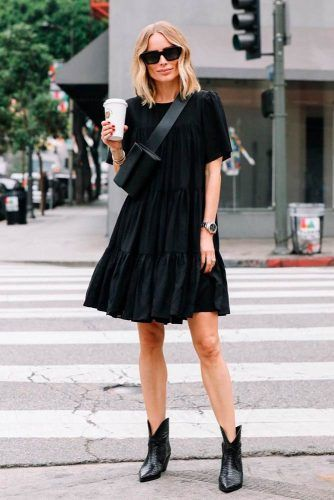 Total Black Monochromatic Look #casualoutfit #blackcloth