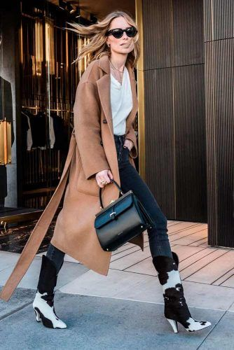 Cowboy Boots With A Long Coat #casualoutfit #stylishlook