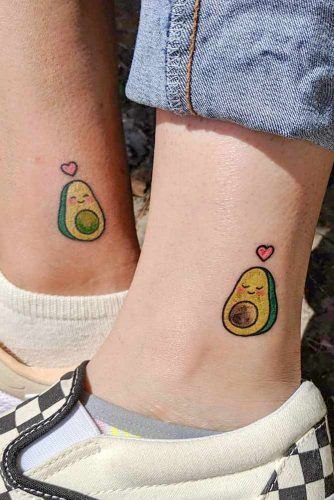 Avocado Best Friend Tattoos #avocadotattoo