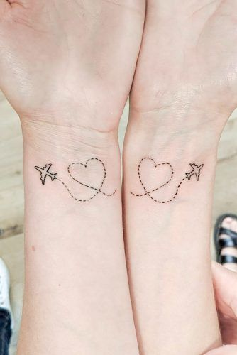 Wrist Tattoos For Long Distance Friendship #hearttattoo #wristtattoo