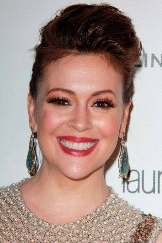 A Messy And Perfectly Imperfect #alyssamilano #updohairstyles
