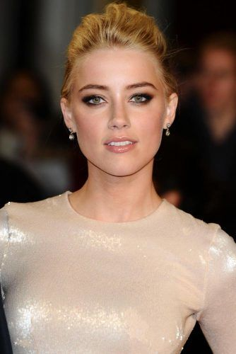 Blonde Haired Pompadour #amberheard #blondehair
