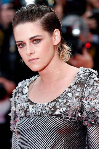 Sleek Shoulder Length Pompadour #kristenstewart #sleekhairstyles
