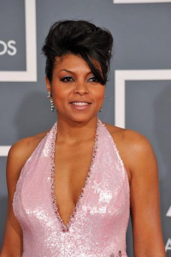 High Pompadour With Side Bang #tatajihenson #updohairstyles