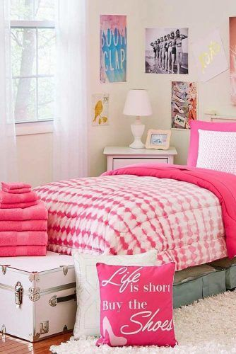 Bedding Space In Pink Color #pinkcolor #pinkbedding