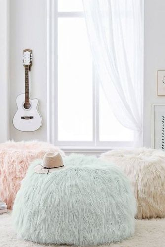 Comfy Poufs For Rest Space #comfypoufs