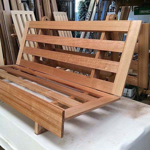 Wood Futon Frame #futonframe #futonelements