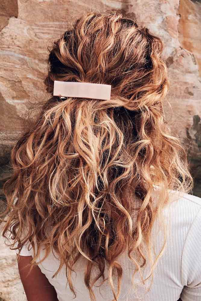 Alligator Clip #curlyhairstyles #hairaccessories