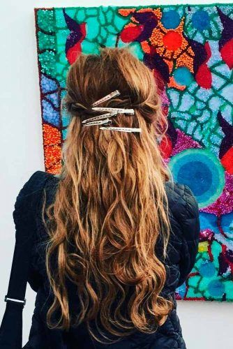 Duckbill Clip #longhair #hairaccessories